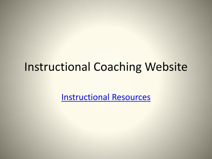 Instructional Coaching Website