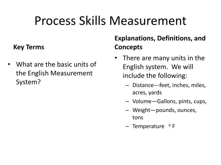 Process Skills Measurement