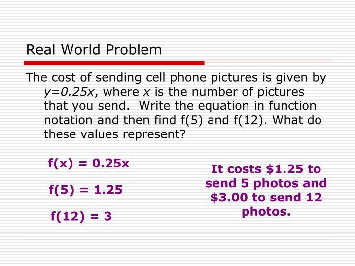 Real World Problem