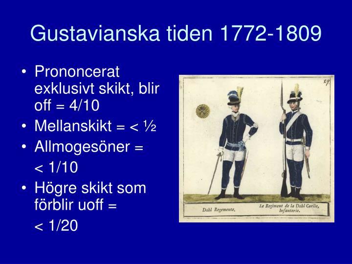 Gustavianska tiden 1772-1809