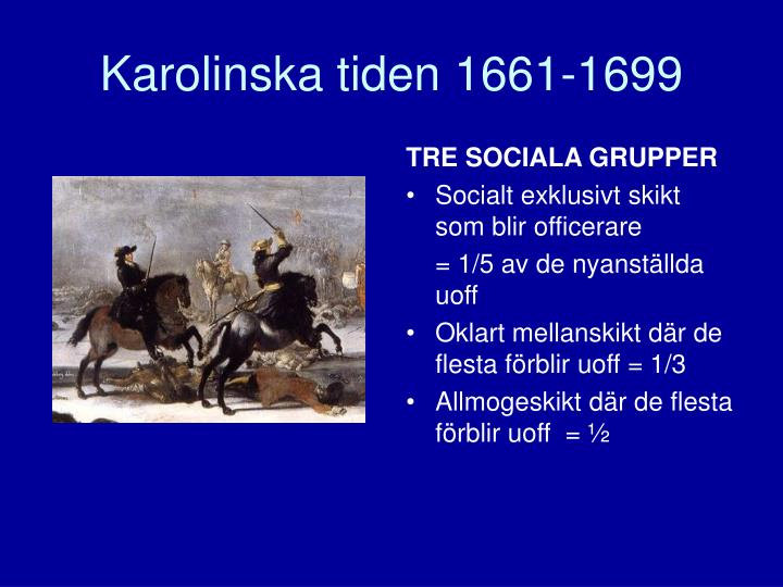 Karolinska tiden 1661-1699