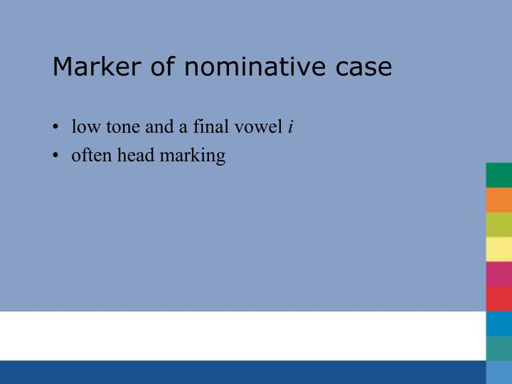 Marker of nominative case