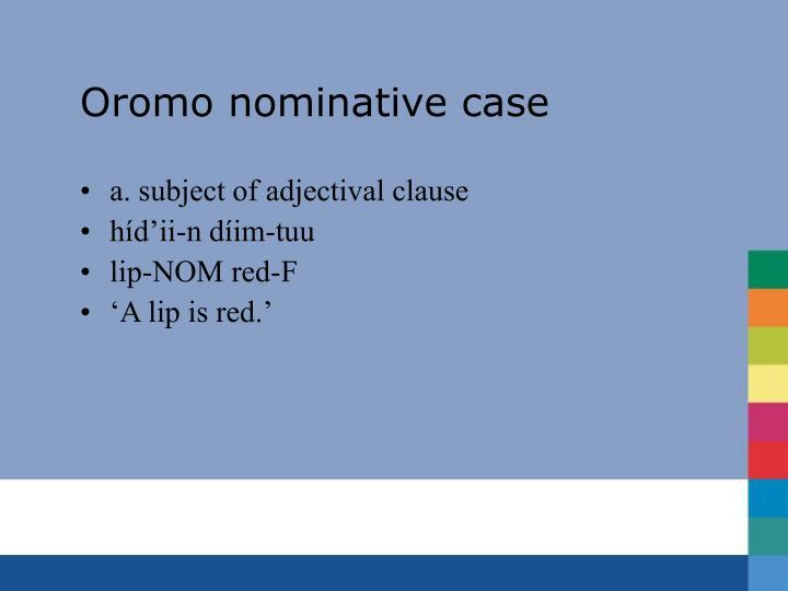 Oromo nominative case