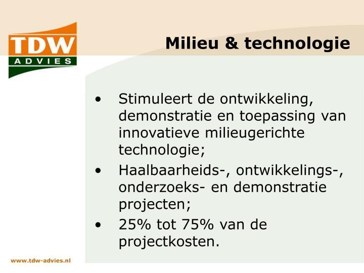 Milieu & technologie