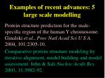 examples of recent advances 5 large scale modelling