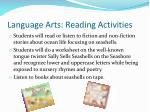language arts reading activities