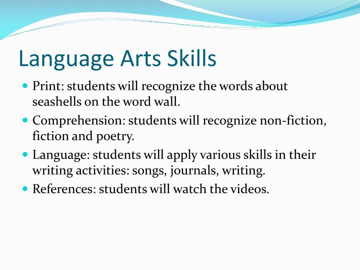 Language Arts Skills