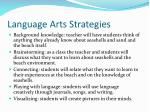 language arts strategies