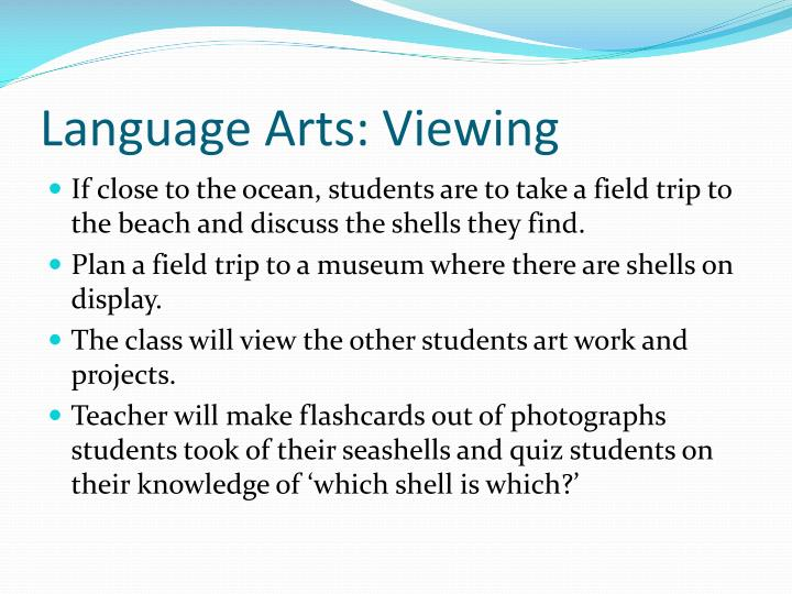 Language Arts: Viewing