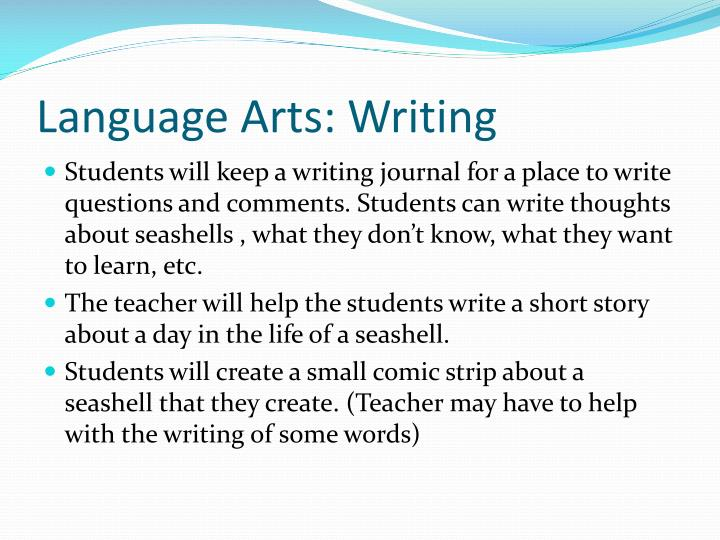 Language Arts: Writing