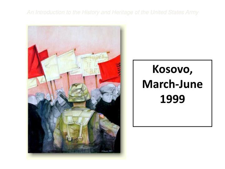 Kosovo, March-June 1999