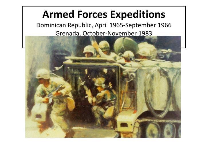 Armed Forces Expeditions