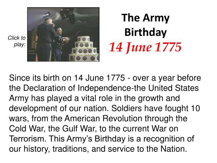 The Army Birthday