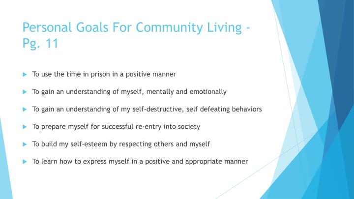Personal Goals For Community