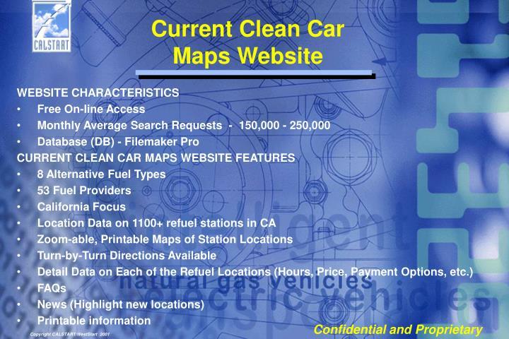 Current Clean Car Maps Website