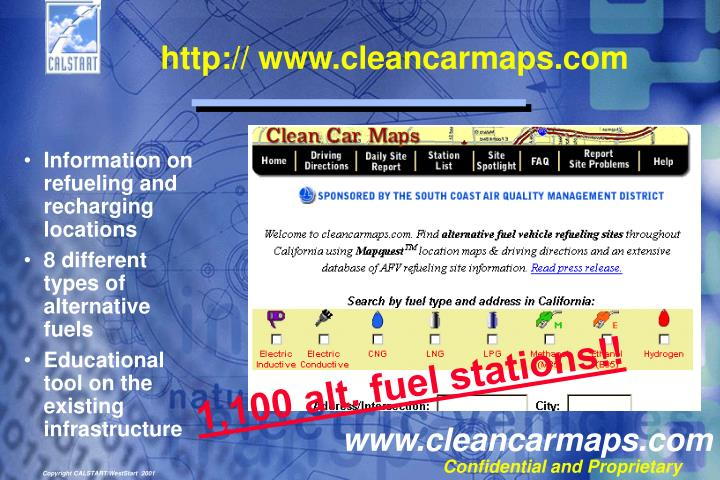 http:// www.cleancarmaps.com