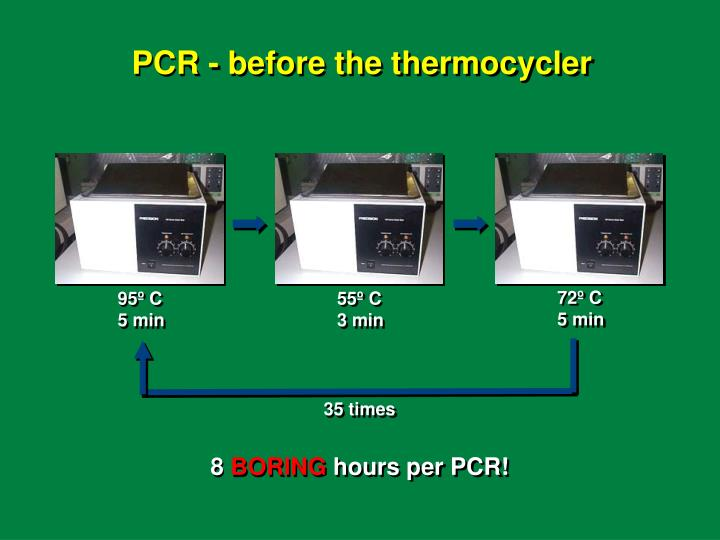 PCR - before the thermocycler