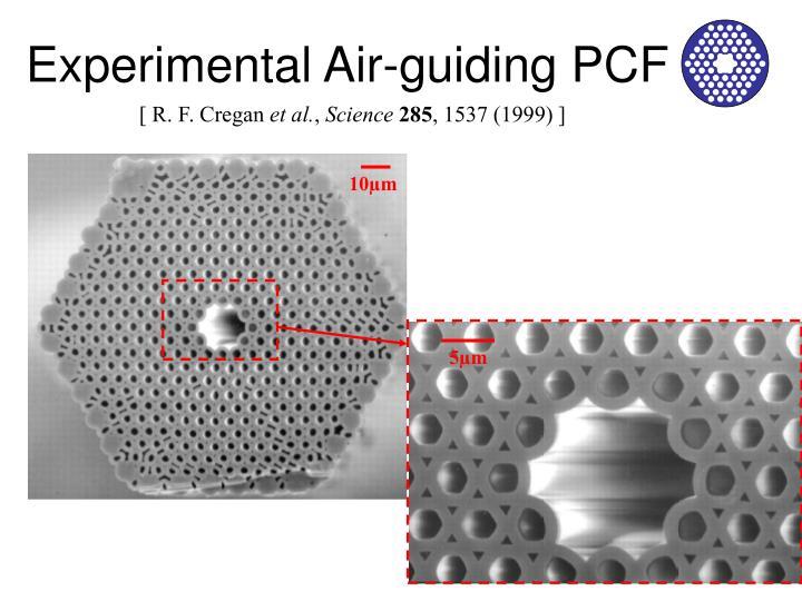 Experimental Air-guiding PCF