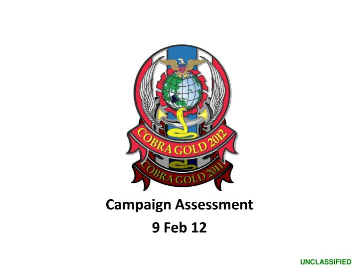 Campaign Assessment
