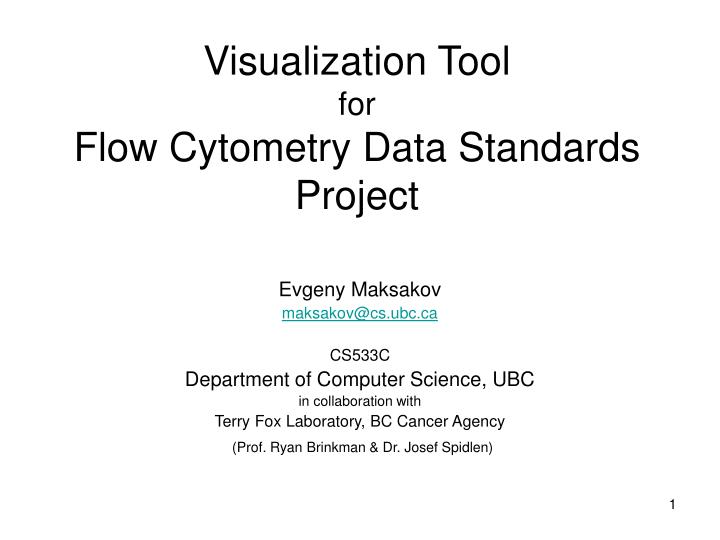 visualization tool for flow cytometry data standards project