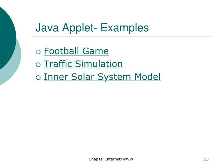 Java Applet- Examples