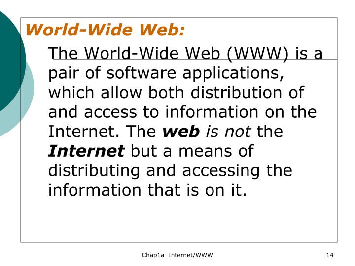 World-Wide Web: