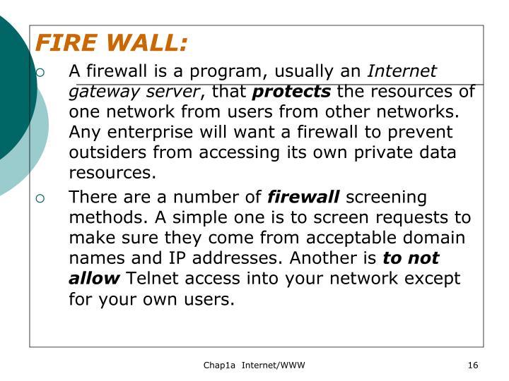 FIRE WALL: