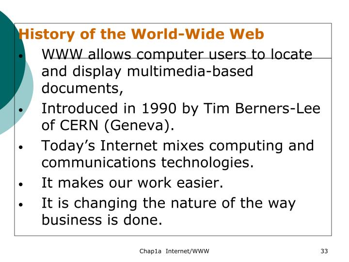History of the World-Wide Web