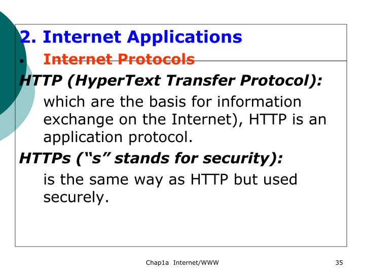 2. Internet Applications