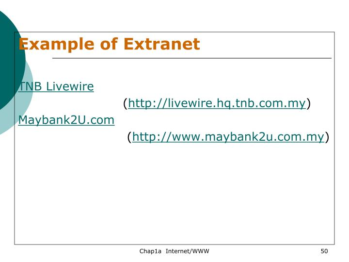 Example of Extranet