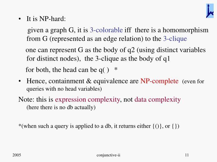 It is NP-hard: