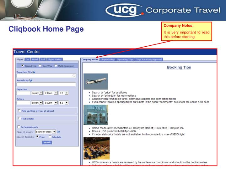 Cliqbook Home Page