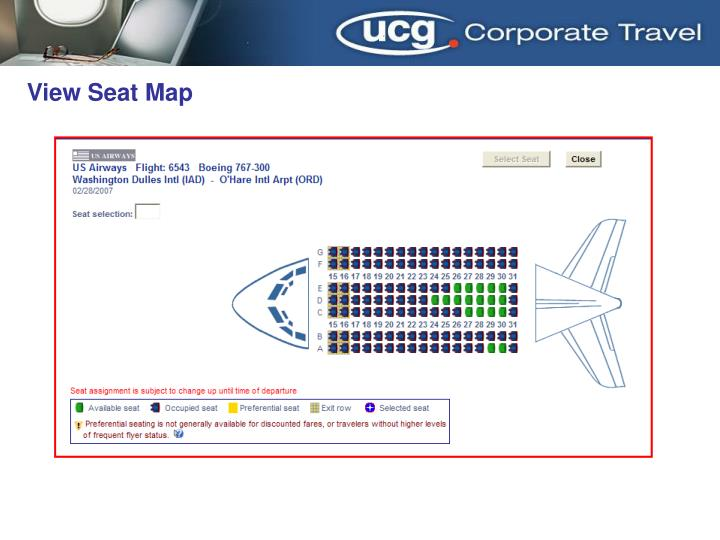 View Seat Map