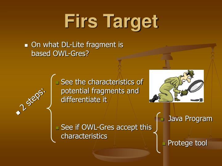 Firs Target