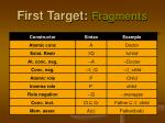 first target fragments1
