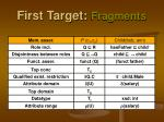 first target fragments2