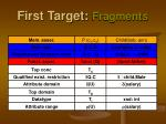 first target fragments4