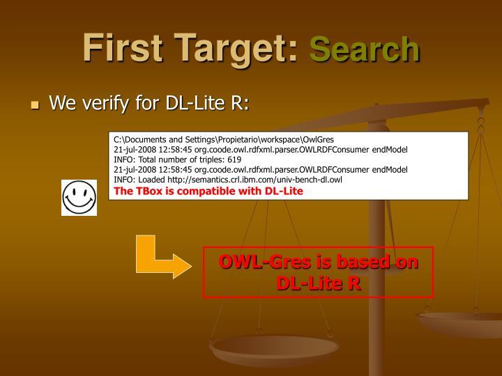 First Target: