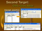 second target owl gres abox3