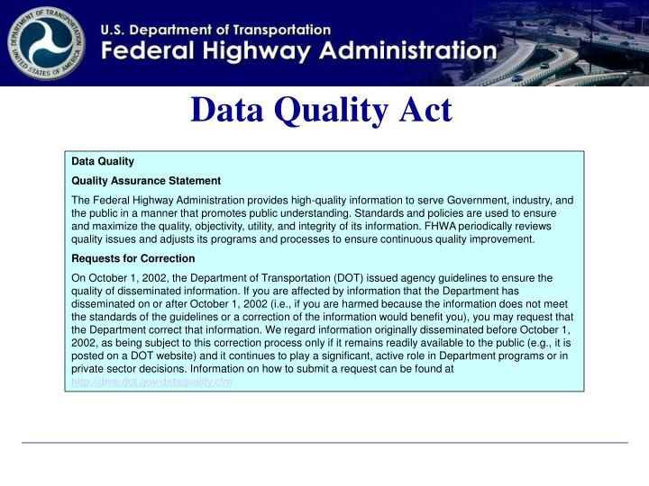 Data Quality Act