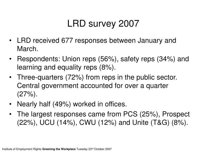 LRD survey 2007