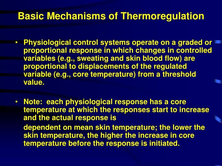 Basic Mechanisms of Thermoregulation