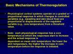 basic mechanisms of thermoregulation1