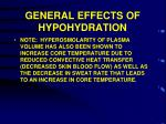 general effects of hypohydration2