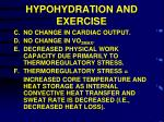 hypohydration and exercise1