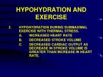 hypohydration and exercise2