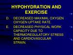 hypohydration and exercise3