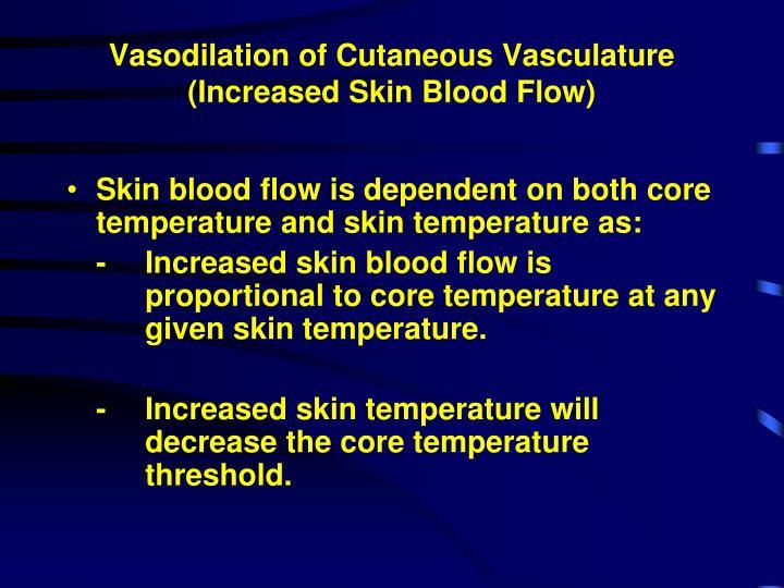 Vasodilation of Cutaneous Vasculature (Increased Skin Blood Flow)