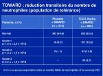 toward r duction transitoire du nombre de neutrophiles population de tol rance1