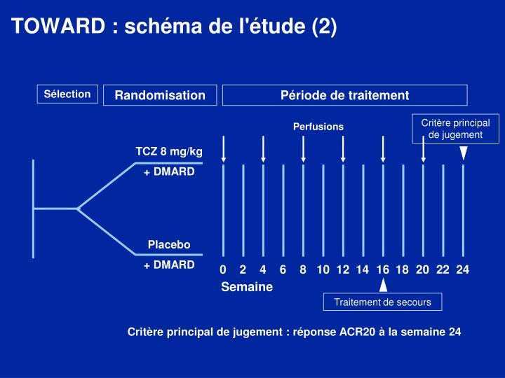 TOWARD : schéma de l'étude (2)